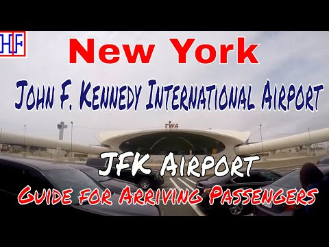 New York John F. Kennedy (JFK) Airport – Arrivals, Ground Transport & Subway Train Connection To NYC