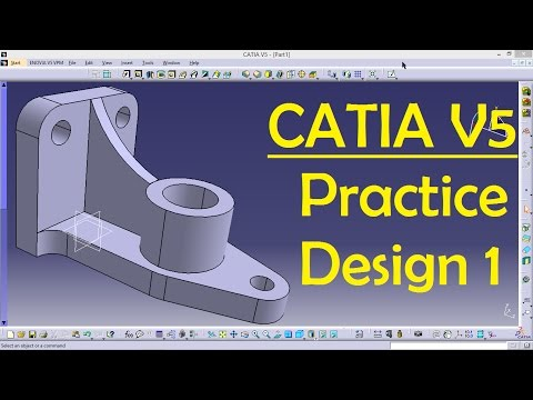 CATIA V5 Practice Design 1 for beginners | Catia Part modeling | Part Design | Engineer AutoCAD
