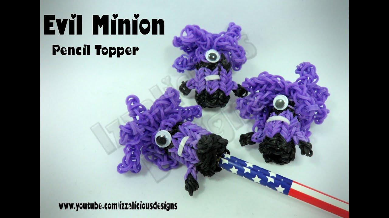 Rainbow Loom Evil Minion Pencil Topper Charm Gomitas Youtube
