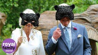 بأقنعة متلألئة.. الأمير تشارلز وزوجته يشاركان في حفل خيري تنكري للحيوانات