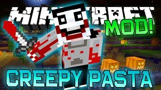 "Minecraft ""CREEPY PASTA"" HALLOWEEN MOD! (PewDiePie, Crazy Killers, Giant Monsters!) Mod Showcase"
