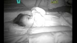 Luvion Dig.Video Baby Monitor: lights on and in darkness (night vision)