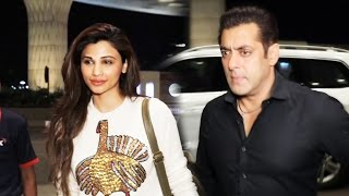 Daisy shah & salman khan leaves for dabangg tour 2017, spotted at airport