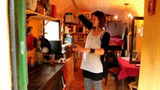 Gypsy Wagon/tiny House Tour In Germany Recycled/dumpster Dived