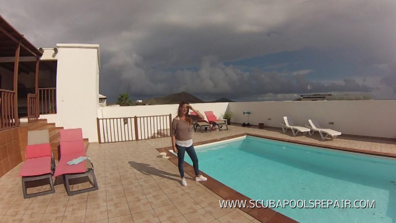 reparacion de piscinas en lanzarote youtube