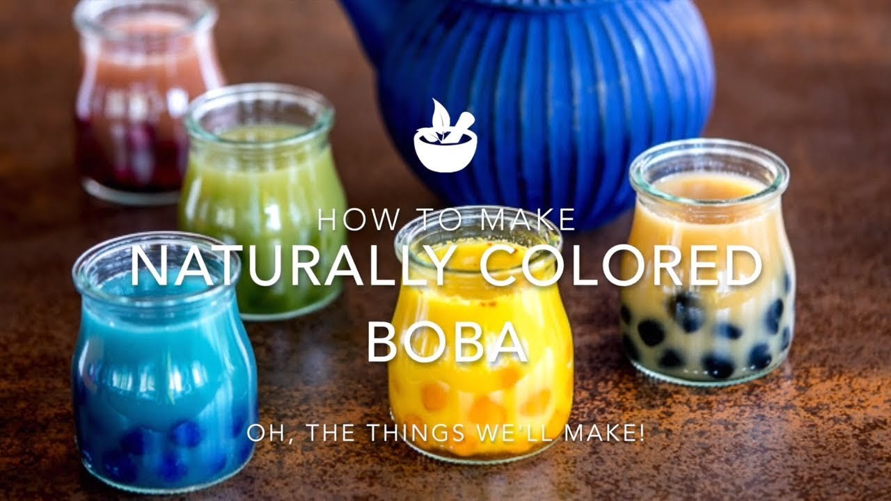How to Make Naturally Colored Boba (Black Tapioca Pearls and other Colors)