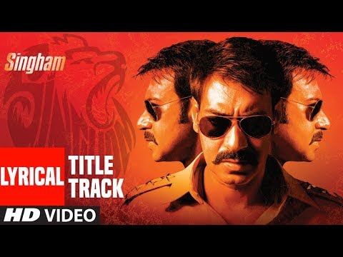 Lyrical : Singham Title Song | Feat. Ajay Devgan | Sukhwinder Singh | T-Series