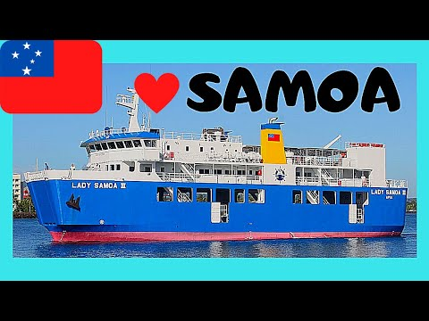 SAMOA, stormy ferry boat crossing from SAVAI
