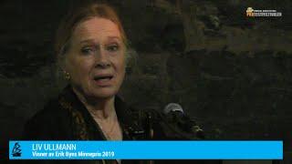 Protestfestivalen 2019 - Utdeling av Erik Byes Minnepris til Liv Ullmann