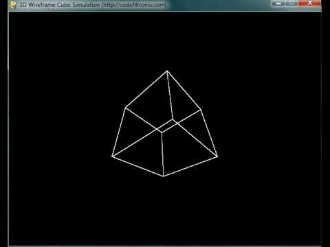 Rotating 3D Wireframe Cube with Python | codeNtronix