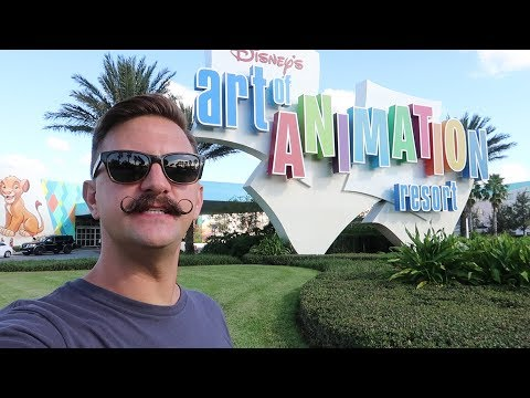 Disney Worlds Art Of Animation Resort  Hotel Grounds Walking Tour, Pools & Food Locations!