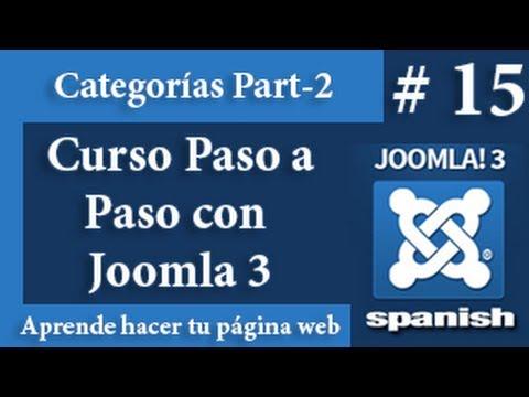 Las categorías en Joomla 2da parte.