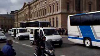 Video Paris Olympic Torch Flame on Bus & 69 Police Vans download MP3, 3GP, MP4, WEBM, AVI, FLV Agustus 2018