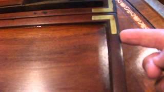 19thc  Mahogany Brass Bound Lapdesk