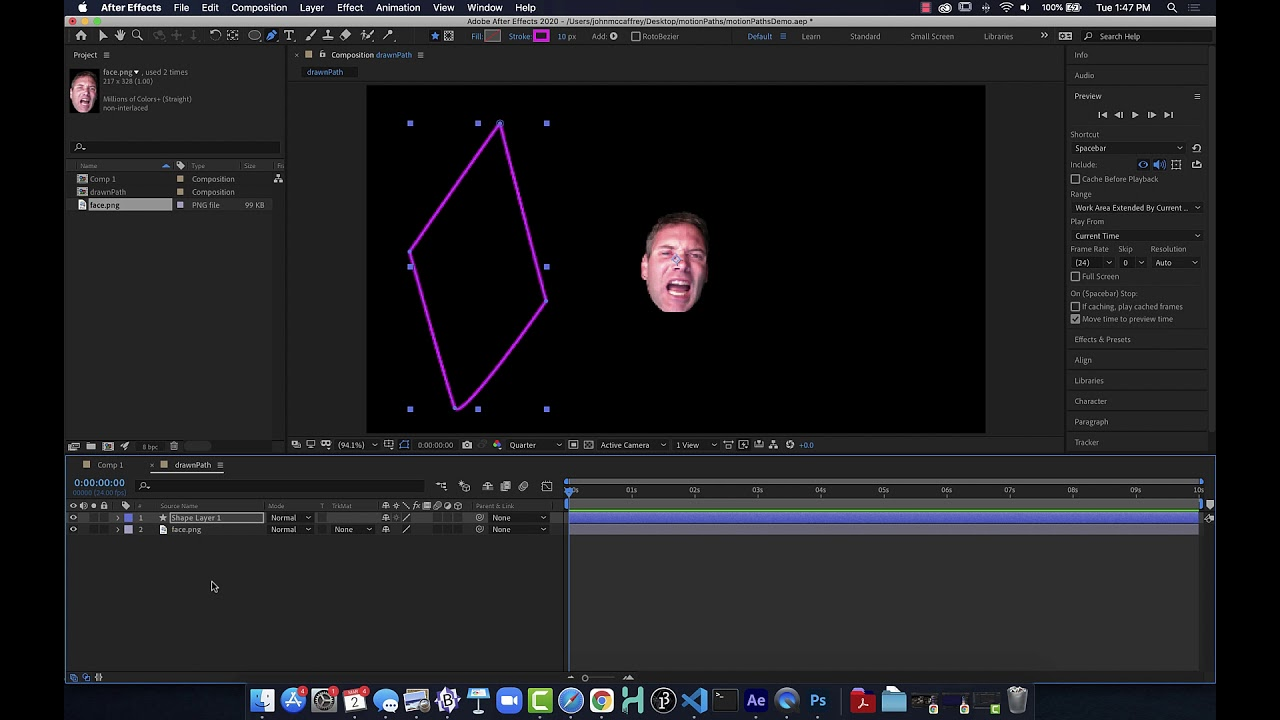 Using Motion Paths in Adobe After Effects