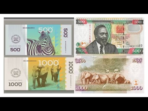 KENYAN CURRENCY TRANSFORMATION CURRENTLY VS NEW FACE !!!