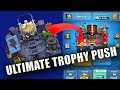 Ultimate trophy push with low level deck | electro valley to league1 pushing trophies |