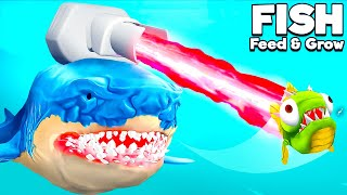 Playing as LASER SHARK to FEED and GROW BIGGER!