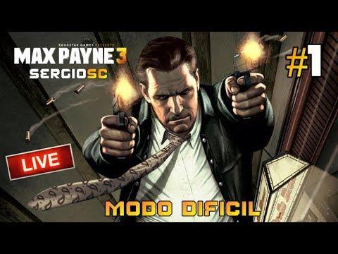 Max Payne 3 Modo difícil #1 Capítulos I al VII - Directo Gameplay Español [ PC ULTRA ]