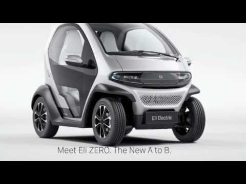 Eli ZERO (Electric Smart Fortwo-Renault Twizy Mashup) To debut in CES 2017