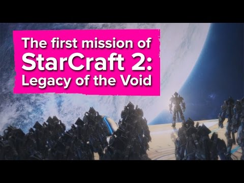 The first mission of StarCraft 2: Legacy of the Void (Campaign gameplay & impressions)