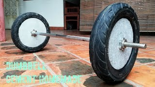 Amazing How to make homemade weight (Barbell)/ for gym at home
