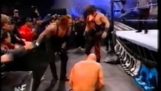 Stone Cold Steve Austin vs The Undertaker vs Kane Smackdown 1/4/2001
