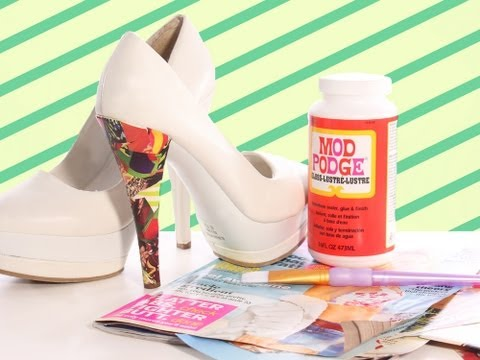 How to Mod Podge Your Shoes