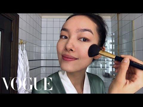 Model Fei Fei Sun Perform Skin-Care Magic | Beauty Secrets | Vogue
