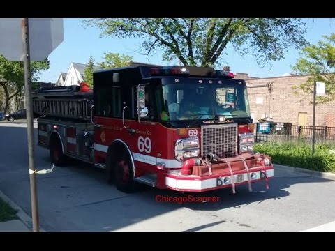 Chicago Fire Department Engine Co 69 Responding