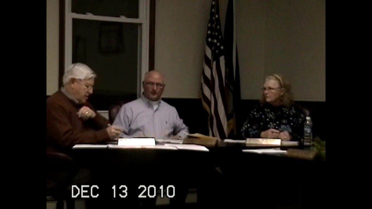 Chazy Town Board Meeting  12-13-10