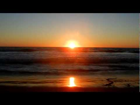 "Manhattan Beach, California ""Ocean Waves Crashing with Sunset"" ""Relaxation Meditation"""