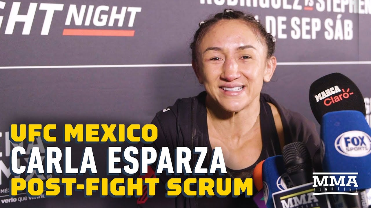 UFC Mexico: Carla Esparza Reveals Fan Poured Beer On Her: 'It Made Me Really Sad'