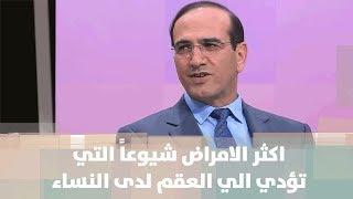 د. مازن الرواشدة - اكثر الامراض شيوعاً التي تؤدي الى العقم لدى النساء