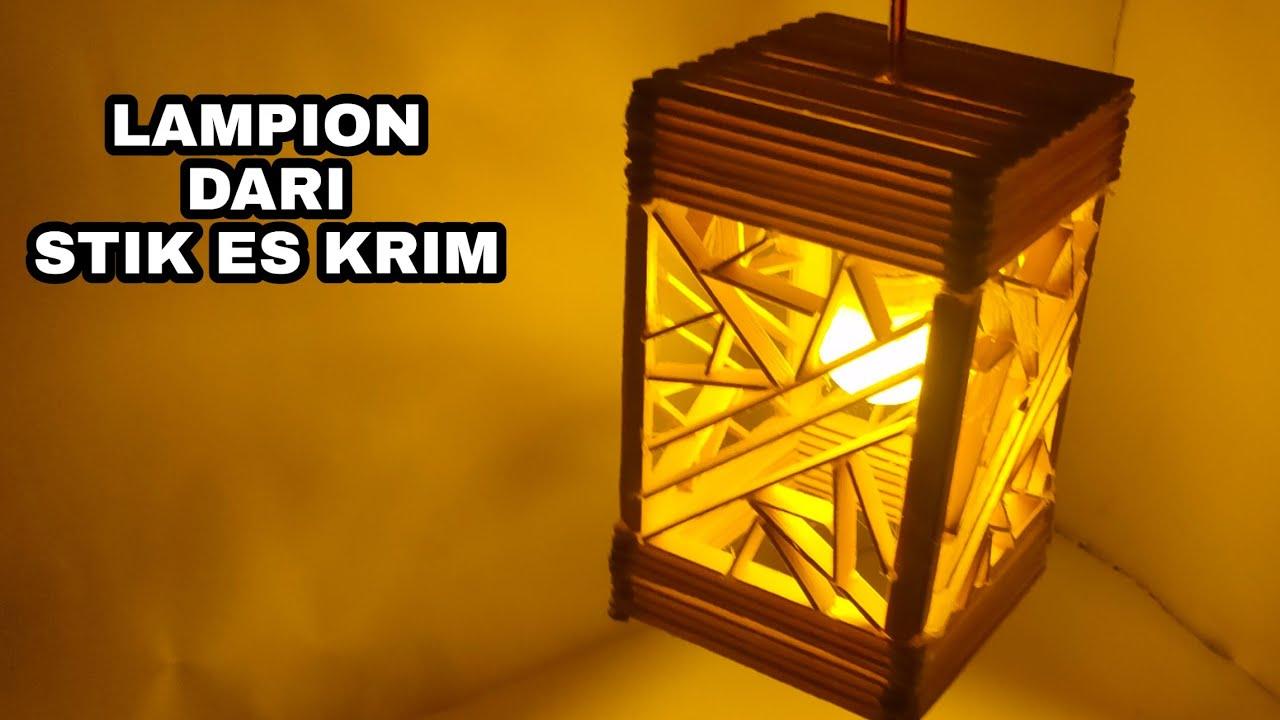 Kreatif Lampion Dari Stik Es Krim Peluang Usaha Youtube Kerajinan stik es krim lampu