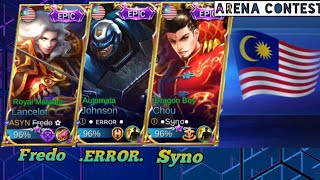Fredo Syno and .Error. playing together | Arena Contest Malaysia vs Cambodia