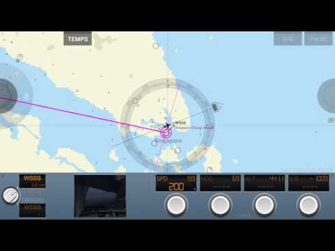 Rortos Fly Engine: Landing in Singapore Airbus A380 (Cockpit View) with details.