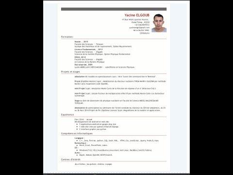 simple curriculum vitae html template cv youtube