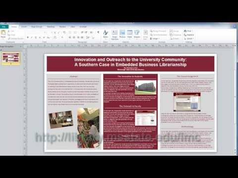 Microsoft Publisher: Conference Poster Sessions