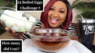 24 BOILED EGGS CHALLENGE + BLOVES SMACKALICIOUS SAUCE