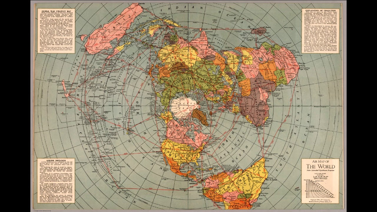1 Meme at a Time  3    Air Map of the World 1945    YouTube 1 Meme at a Time  3    Air Map of the World 1945
