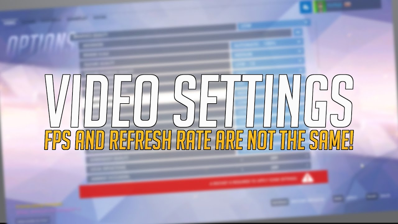 Video Settings - FPS and Refresh Rate are not the same! - YouTube