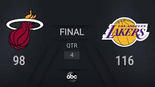 Heat @ Lakers | NBA on ABC Live Scoreboard | #NBAFinals Presented by YouTube TV