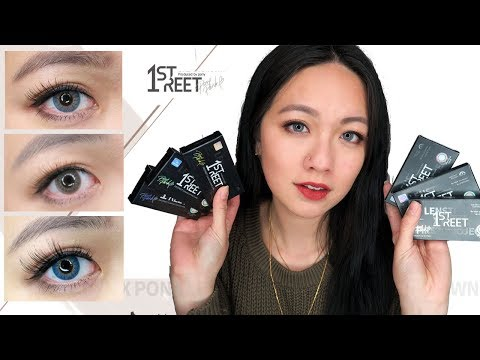 LENS TOWN 1ST STREET PONY Colored Contact Lens #URBAN BLUE #URBAN BROWN #URBAN GREY |Close Up Review