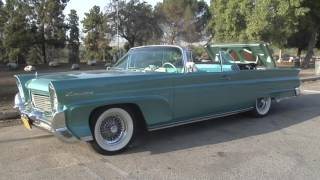 1958 Continental Mark III Convertible - Top Down & Driving