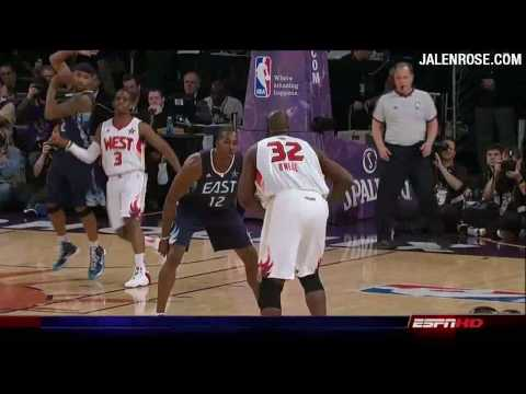 NBA All Star Game 2009 - Shaq and Kobe Co-MVP Highlights in HD - Jalen Rose Comments