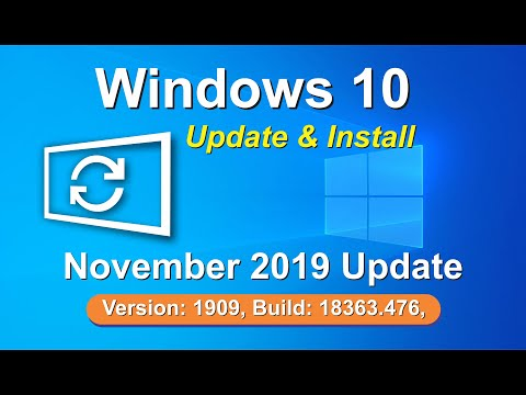 Windows 10 New Update Version 1909 How To Download And Install Tutorail By, Amjad
