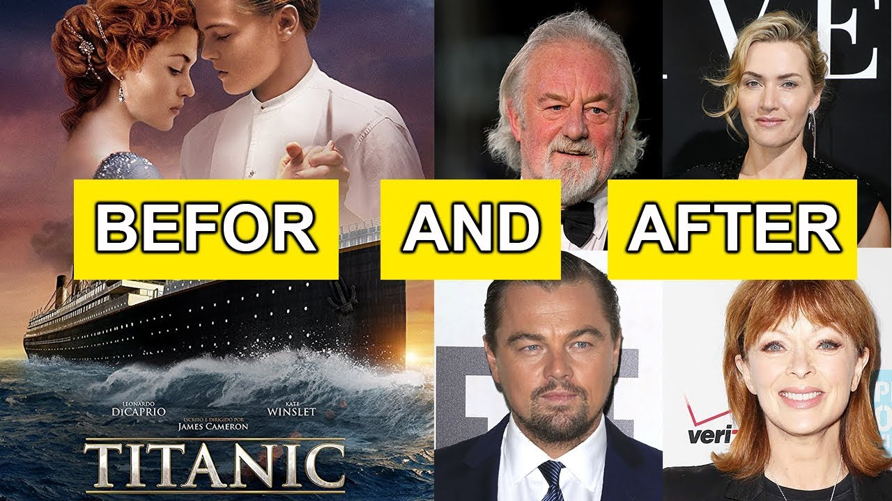 titanic before and after actors real names 1997 to