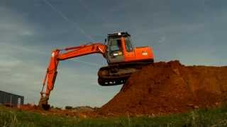 360 excavator up and down the hip