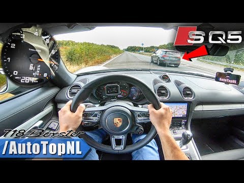 PORSCHE 718 BOXSTER 284km/h TOP SPEED AUTOBAHN POV Vs AUDI SQ5 By AutoTopNL